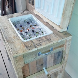 Wooden Cooler Box